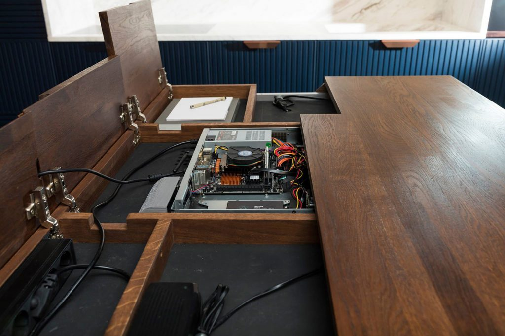 Stact table - opened computer