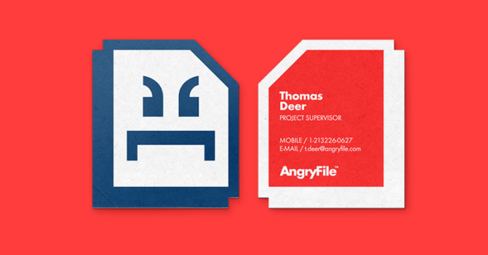 Business card for AngryFile