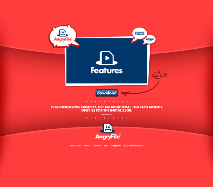 Website for AngryFile