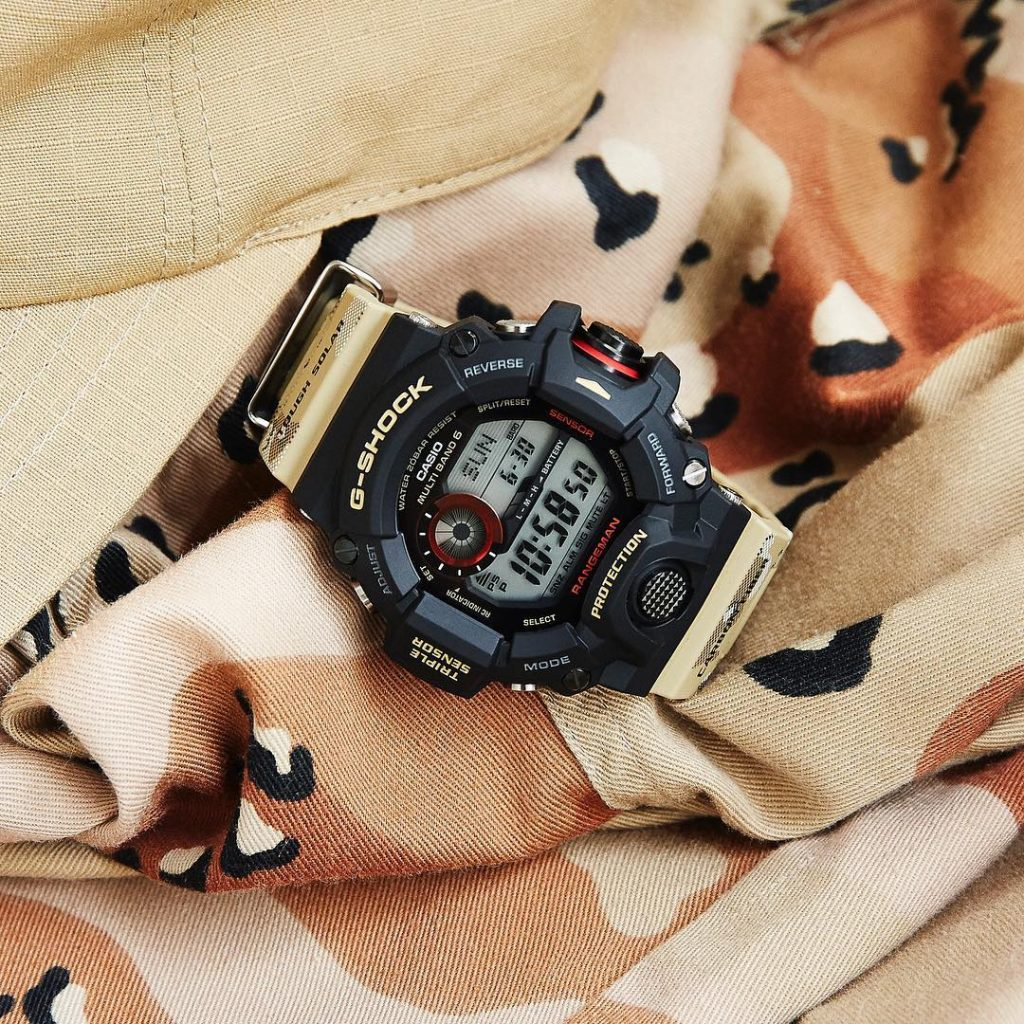 G-Shock Master in desert camouflage gw-9400dcj
