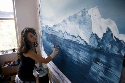 Pastel-Icebergs-by-Zaria-Forman-0