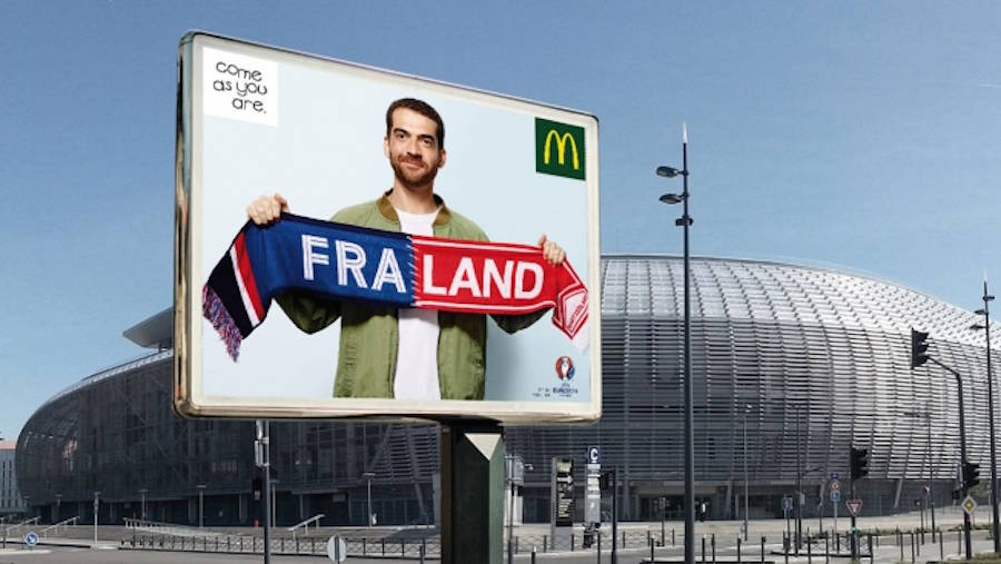 Ad for the Euro 2016 by McDonalds