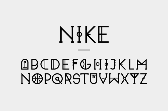 Typography for Nike