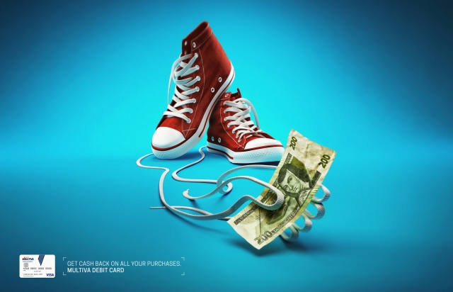 ad-inspiration-banco-multiva-debit-card-paint-scooter-smartphone-sneakers-outdoor-print