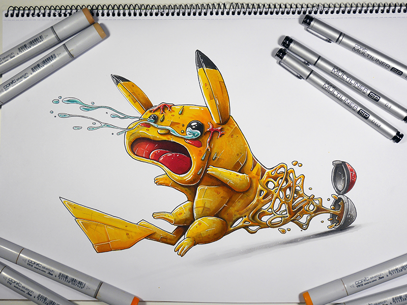 Dribbble Inspiration / pikachu get catch