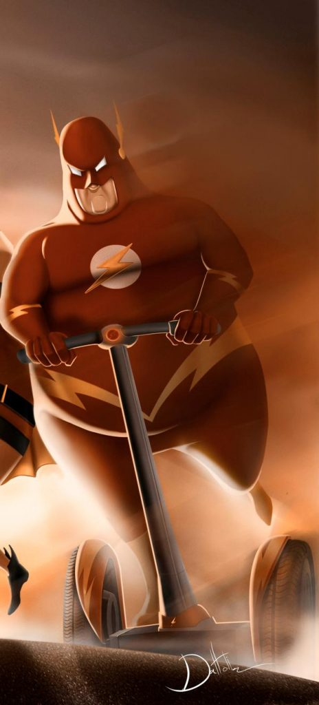 Fat Superheroes illustrations