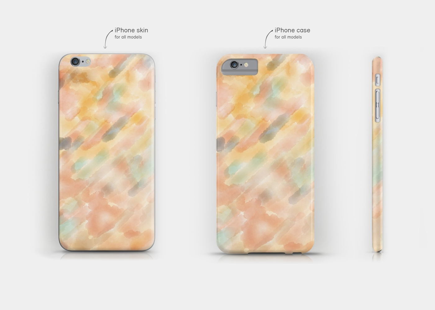 Skin and case for iPhone