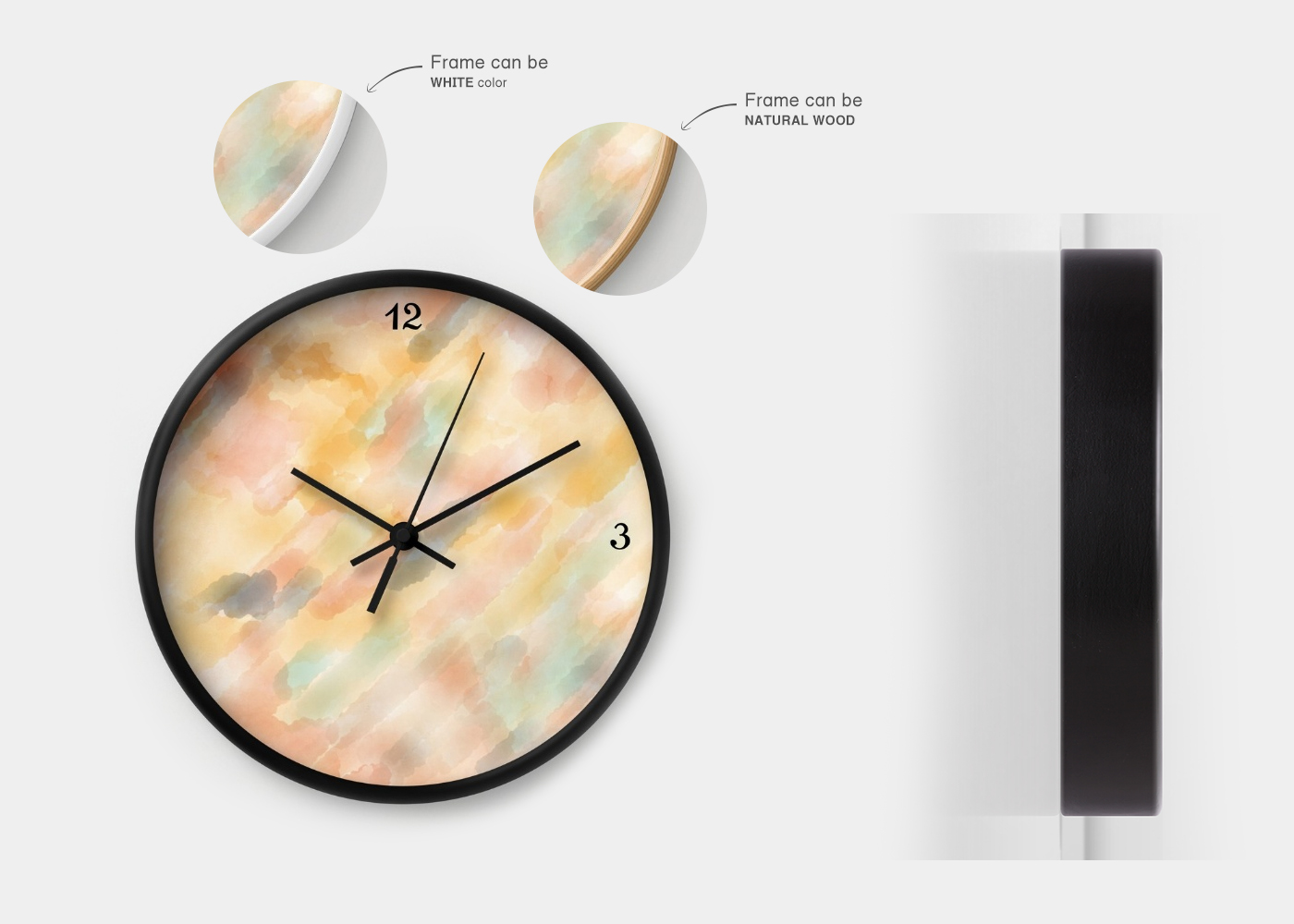 Wall clock with great illustration