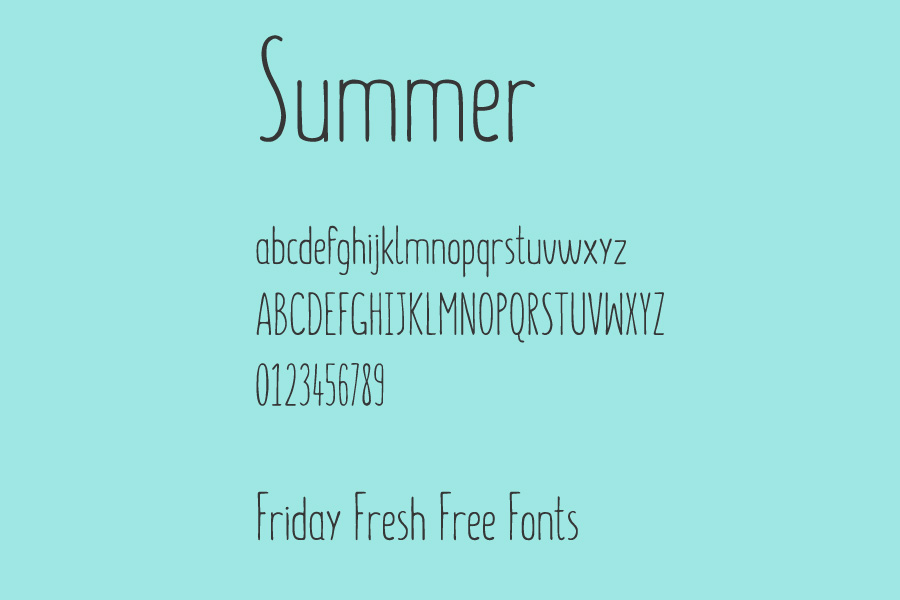 friday free fonts