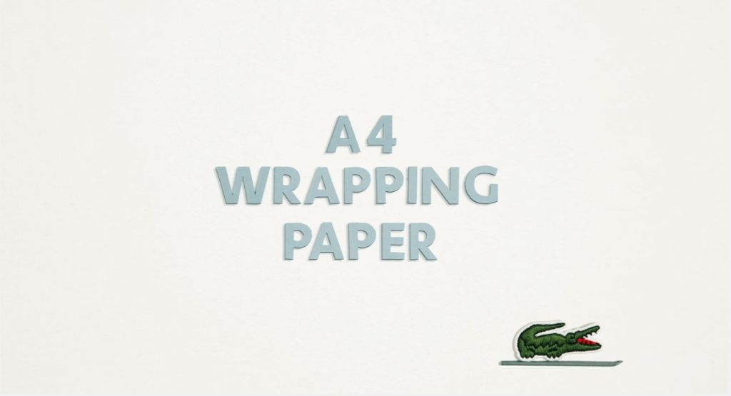 Lacoste Holiday Wrapping Paper
