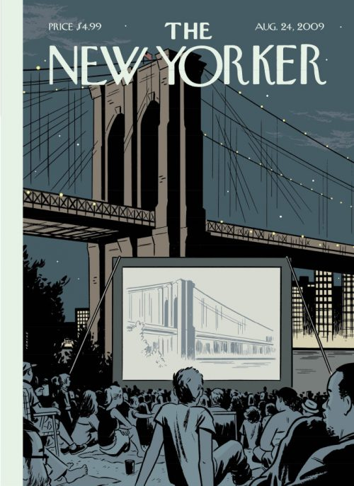 """""""Double Feature,"""" by Adrian Tomine, August 24, 2009."""