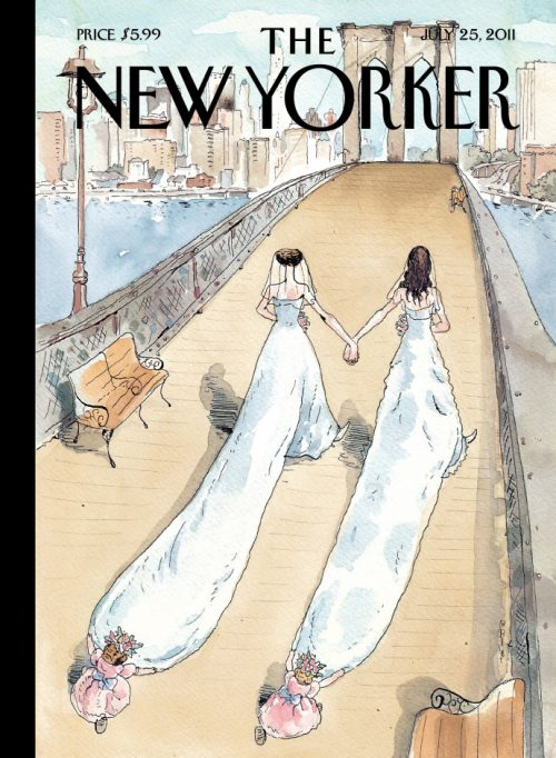 """""""Wedding Season,"""" by Barry Blitt, July 25, 2011."""