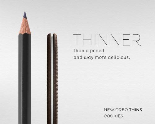 Oreo Thins. Thinner pensil