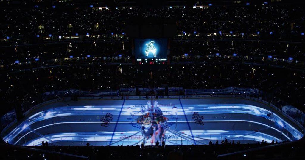 Radugadesign на открытии сезона Chicago Blackhawks НХЛ