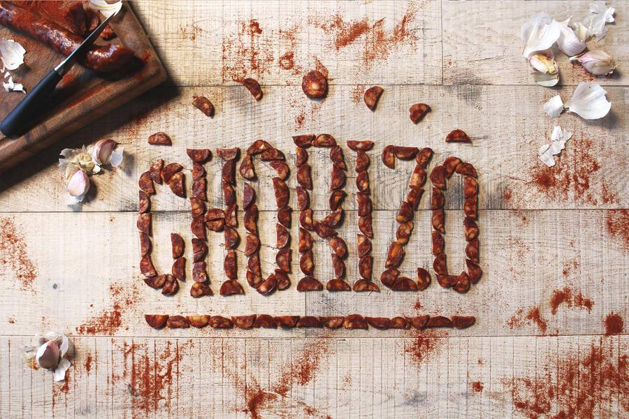 side by side food lettering