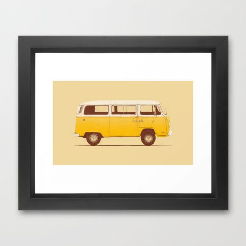 society6-framed-print-2-yellow-van