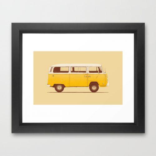 society6-framed-print-2-yellow-van