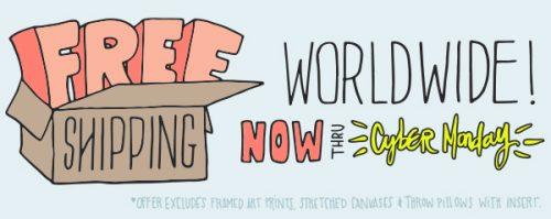 society6-free-shipping-cyber-monday