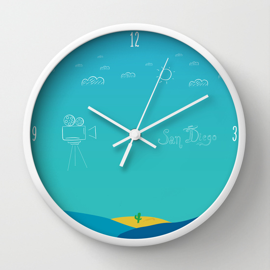 San Diego wall clock
