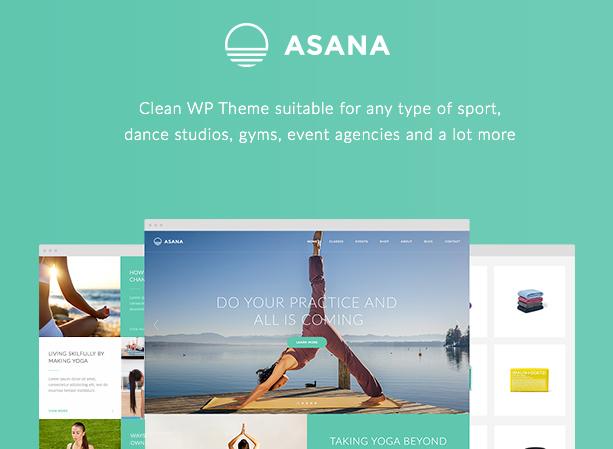 Asana theme for WordPress