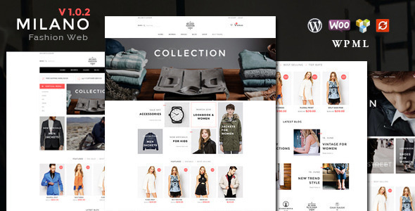 Milano eCommerce template for WordPress