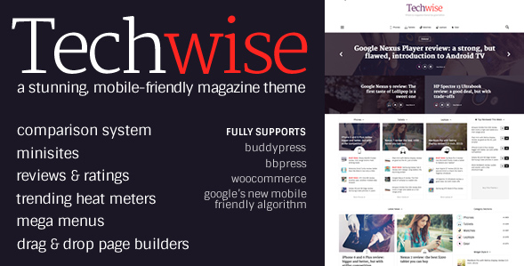 Techwise template for WordPress
