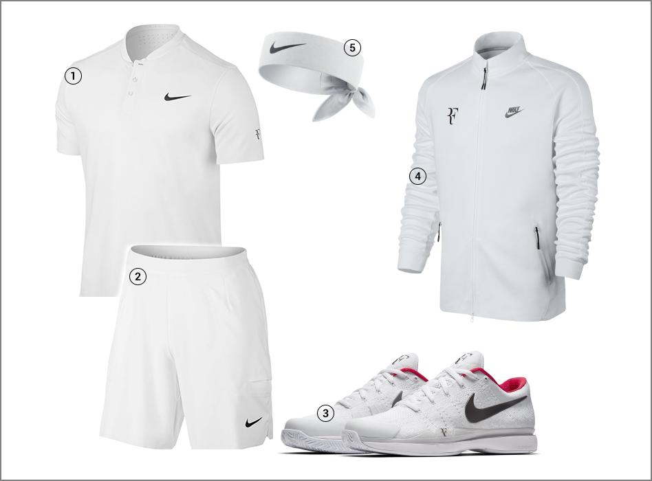 Roger Federer outfit - Wimbledon 2017